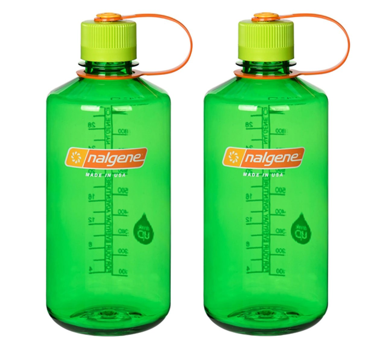 Nalgene 32オンス( 32oz )狭い口( NM )スポーツ水分補給水ボトル – 2のセット B078HN6GVY Melon Ball