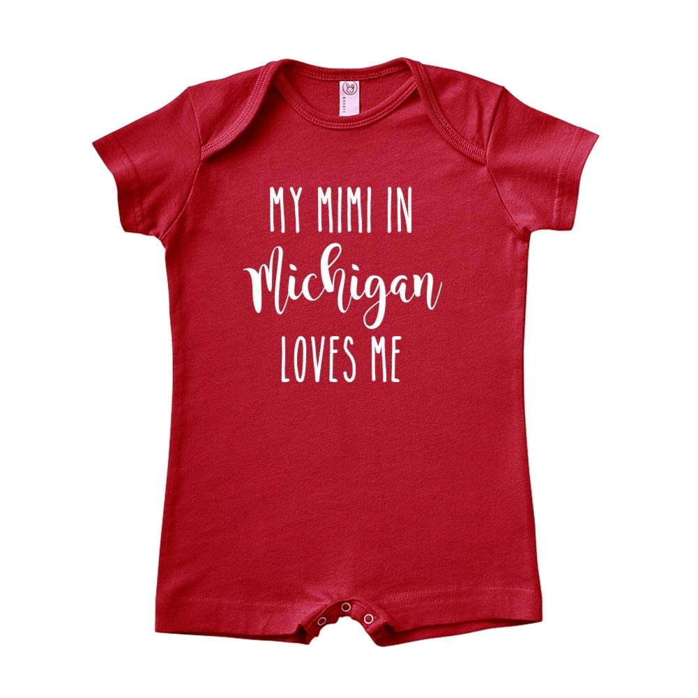 My Mimi in Michigan Loves Me Baby Romper