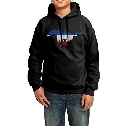 Amazon.com   XMAS Girl s boy s Ford Mustang Pullover Hooded ... 89b2c10544
