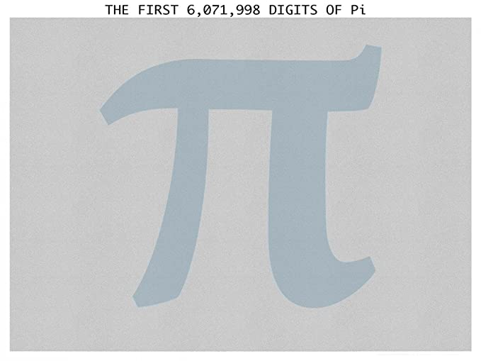 Amazon The Six Million Digits Of Pi Poster W Magnifier 18x24