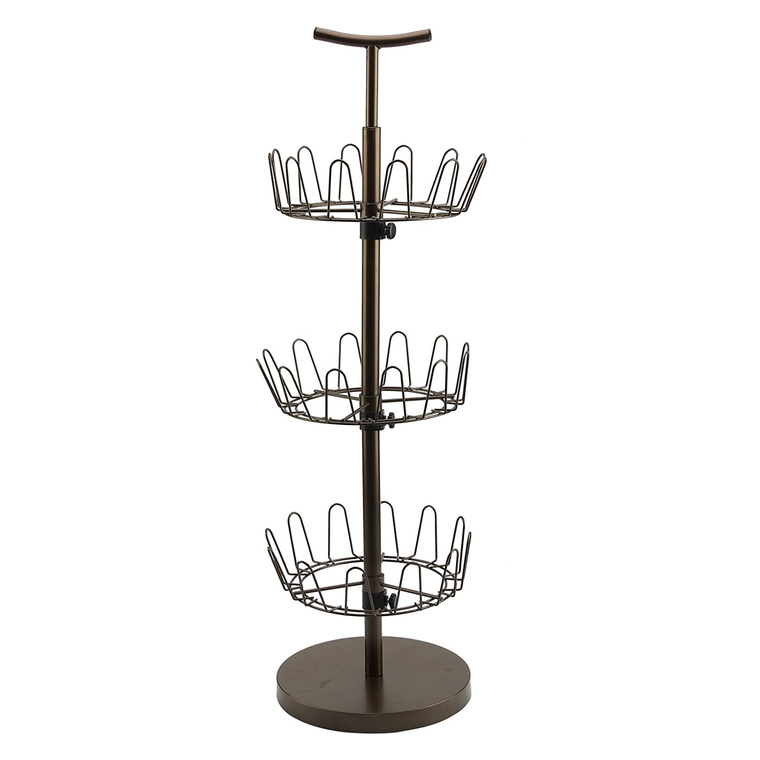AllRight 3-Tier Heavy Duty Revolving Rotating Shoe Rack Organiser for up to 18 Pairs Shoes oem