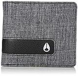 Nixon Men's Showtime Bi-Fold Zip Wallet, Black Wash, One Size