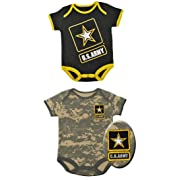 Trooper Clothing Army Baby ACU Body Suits-6-9 months-Black / ACU Digital