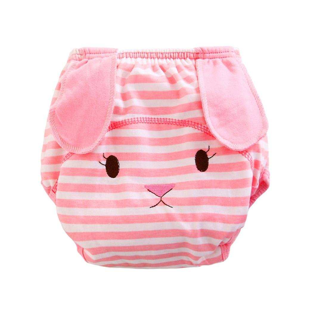 Baby Diaper Cover,Zolimx Baby Infant kids animal cartoon Ruffle Panties Briefs Diaper Cover Pants,Stripe pattern Washable Nappies