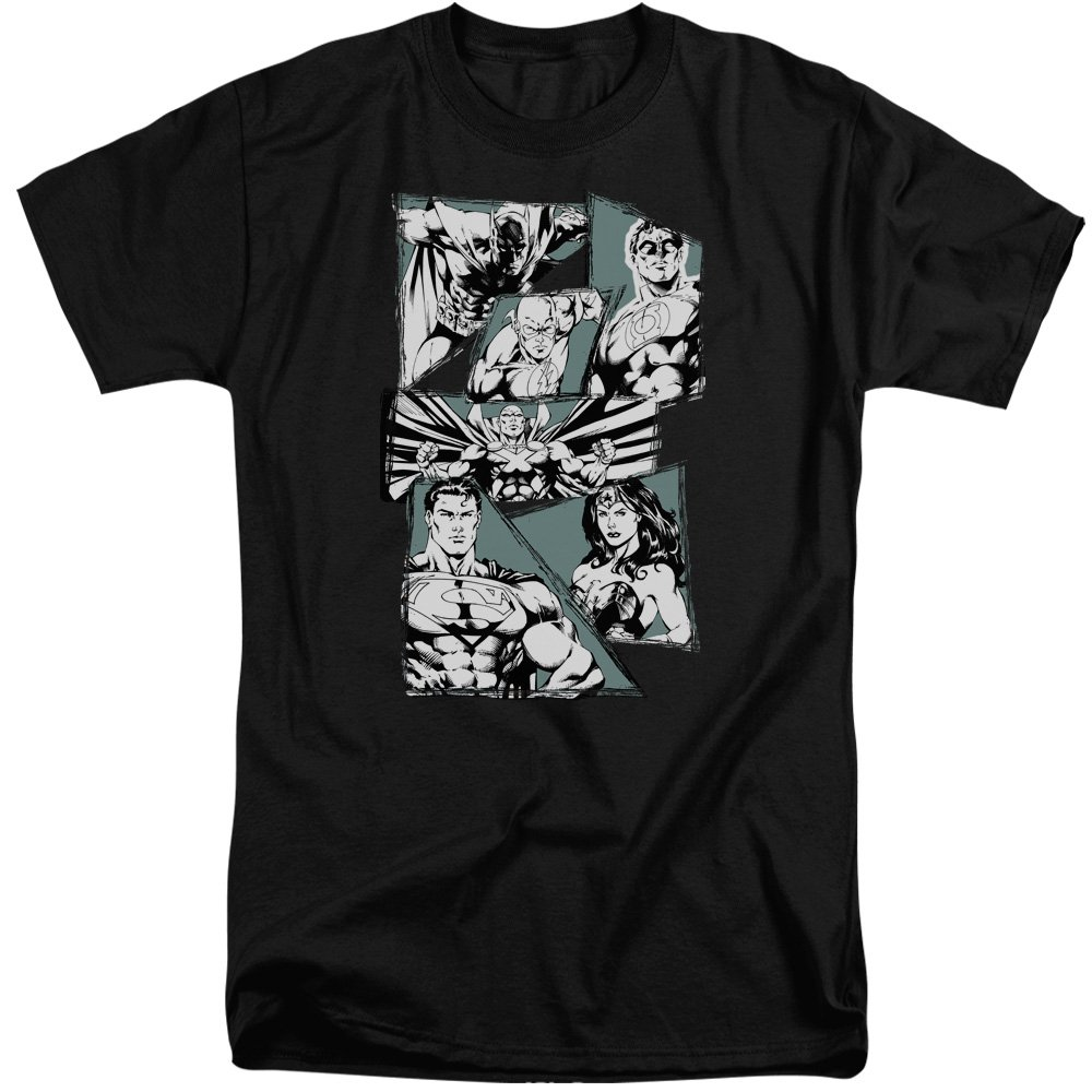 MMM Merchandising Justice League Mens A Mighty League Tall T-Shirt