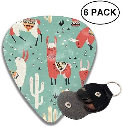 Cactus And Llama Custom Guitar Pick Pendant Necklace Keychain