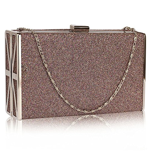 1 With Handbag New Shinny Chain Multi Design Glittery Designer Ladies Women Box Bag Evening Clutch ZTOxfqR