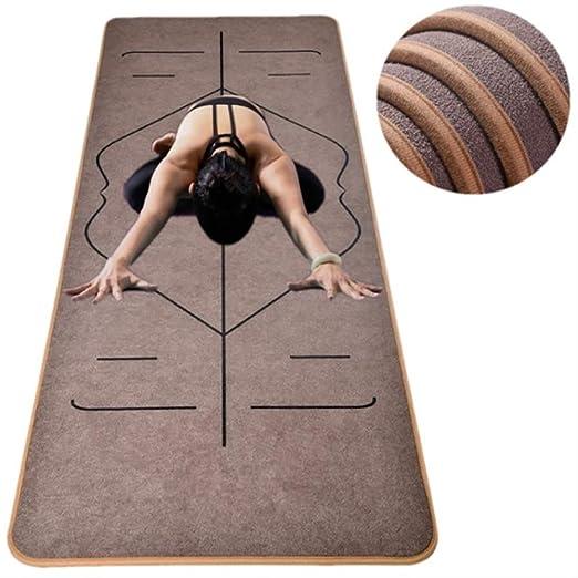 jkkl India Estera de yoga de microfibra con líneas de ...