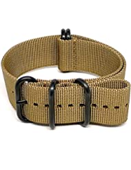 DaLuca Ballistic Nylon Military Watch Strap - Sand (PVD Buckle) : 24mm