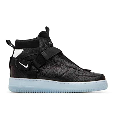 low priced 17be3 b81c3 Amazon.com | Nike Air Force 1 Utility Mid Black/Half Blue ...