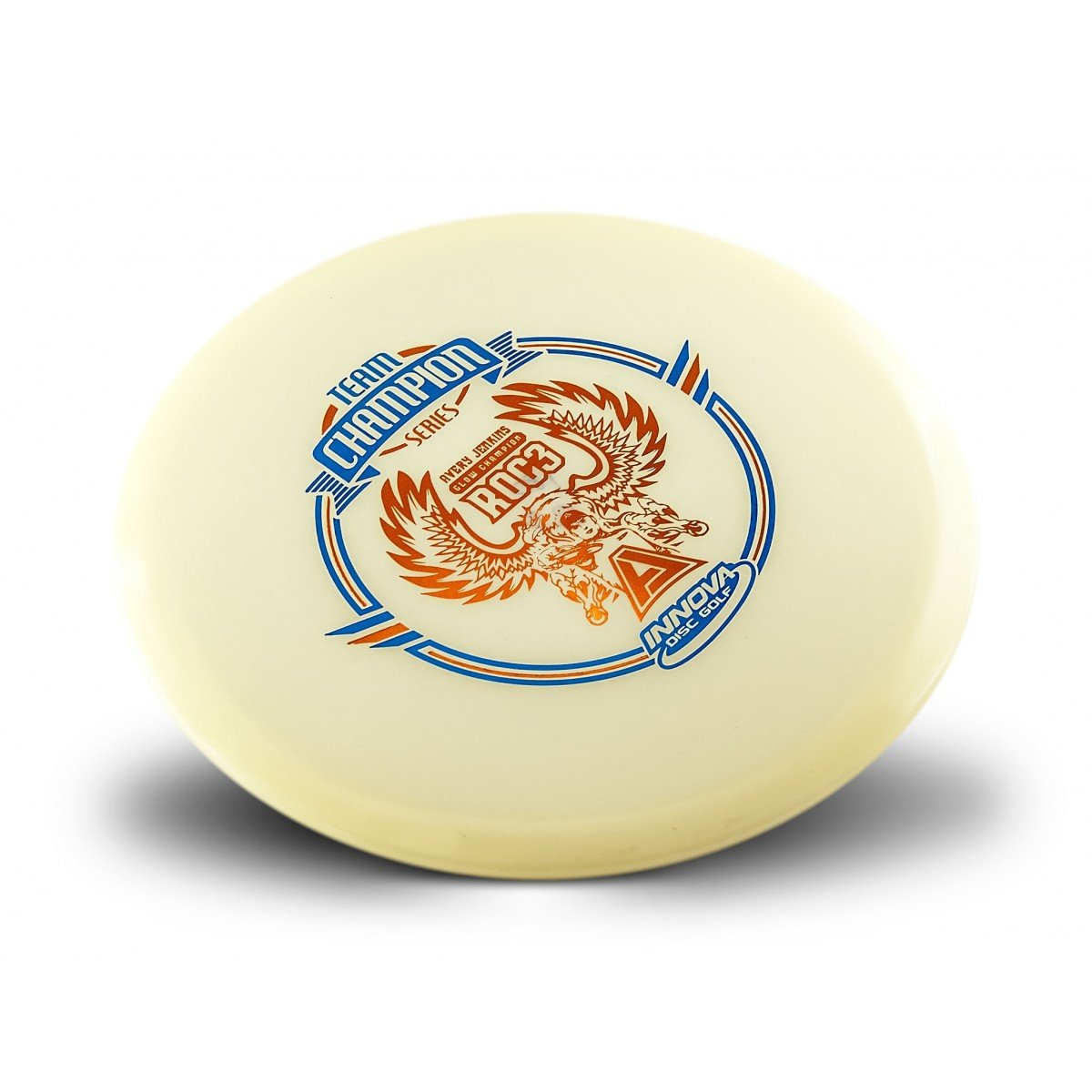 Innova Limited Edition Team Champion Tour Series Avery Jenkins Champion Glow Roc3 Mid-range Disc Golf Disc (Stamp color will vary)