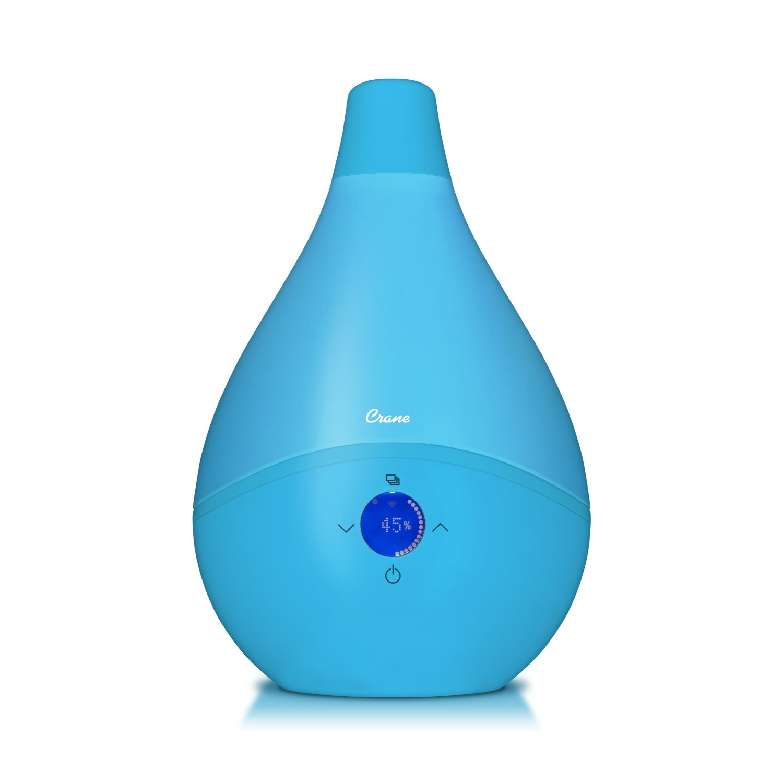 Crane USA Smart Drop Wifi Ultrasonic Cool Mist Humidifier, Aqua
