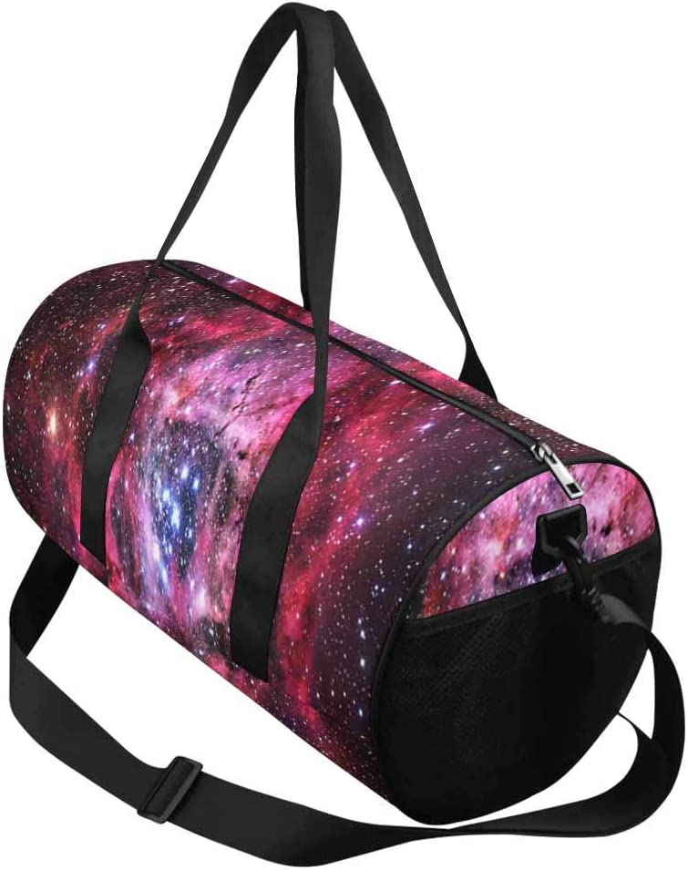 INTERESTPRINT Magical Nebula Duffel Overnight Weekend Bag Travel Duffel Bag