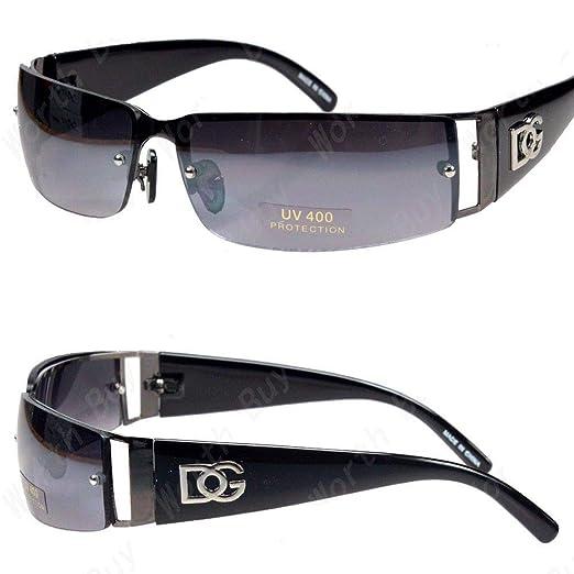 6b5a6583b0d11 Amazon.com  DG Fashion Designer Sunglasses Rectangular-Rimless ...