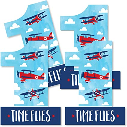 Airplane Party Banner for Plane Theme Birthday Party Supplies-Airplane
