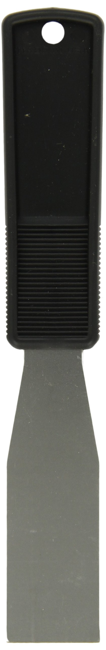 Impact 3200 Stainless Steel Putty Knife with Polypropylene Handle, 8'' Length x 1-1/4'' Width, Black (Case of 100)