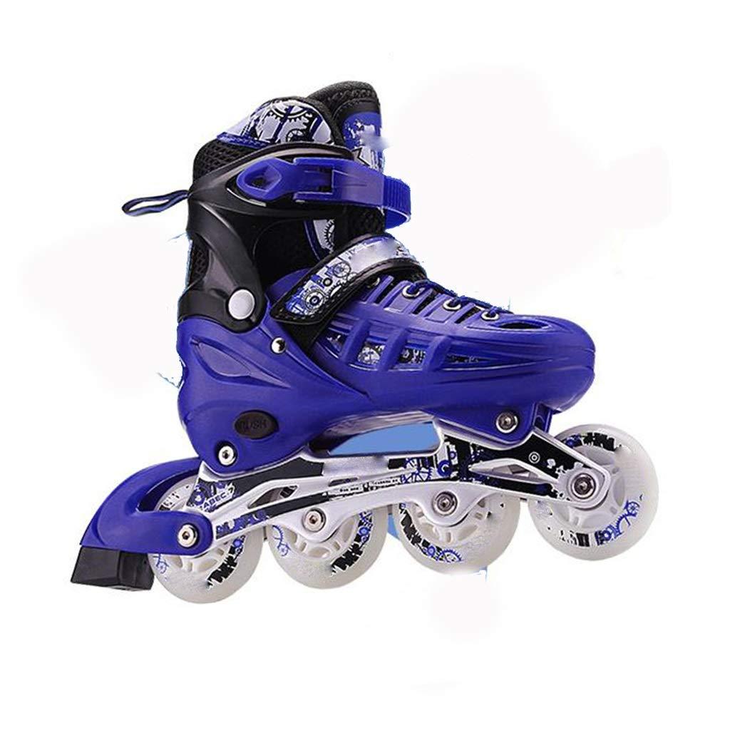 調整可能なインラインスケート、照明付きホイール、大人用フルセットのプロローラーブレード、SafeおよびComfortflowerスケート Small Blue B07W21VJDN