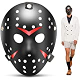 edealing 1 STÜCKE Vintage Jason Voorhees Freddy Hockey Festival Halloween Maskerade Party Maske (BLACK)