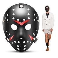 edealing 1PCS Vintage Jason Voorhees Freddy Hockey Festival Halloween Masquerade Party Mask (BLACK)
