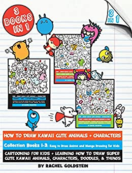 how to draw kawaii cute animals characters collection