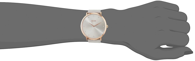 Amazon.com: Hugo Boss Jillian Grey Dial Leather Strap Ladies Watch 1502412: Watches