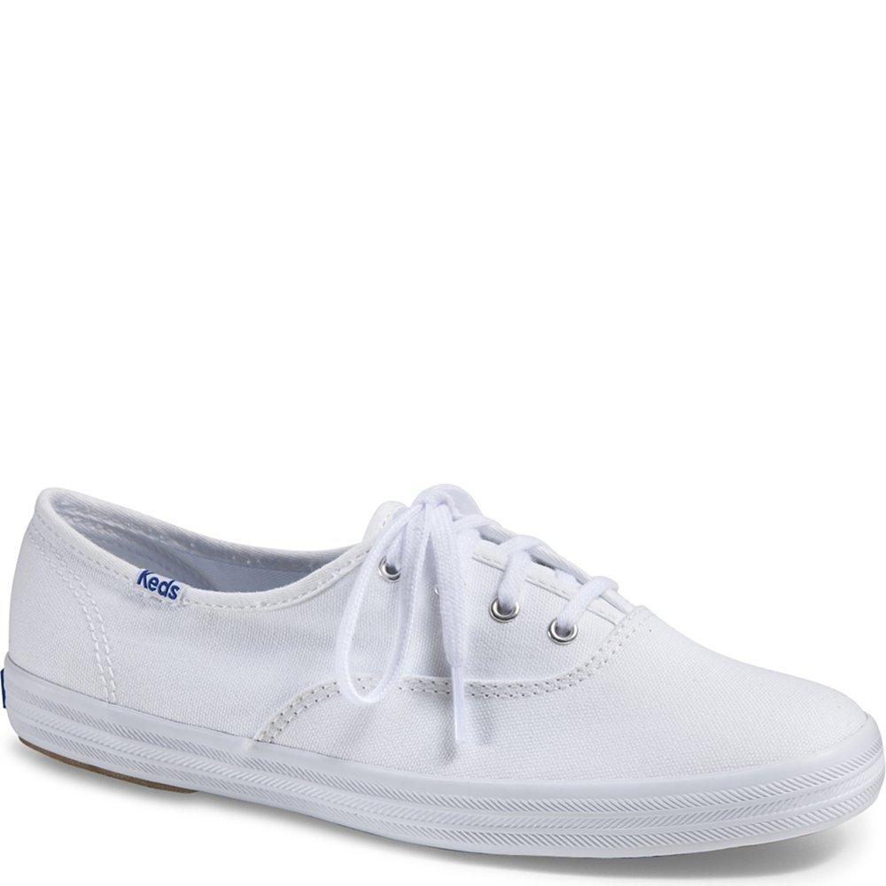 Keds Women's Champion Original Canvas Sneaker,White,6 M US