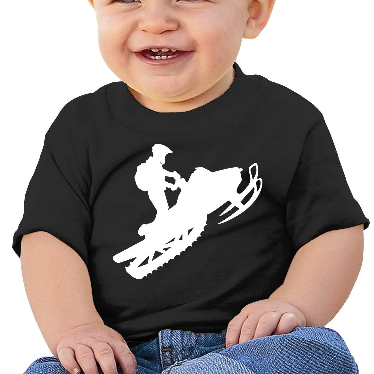 Snowmobile Baby Boys Girls Short Sleeve Crewneck T-Shirt 6-18 Month Tops