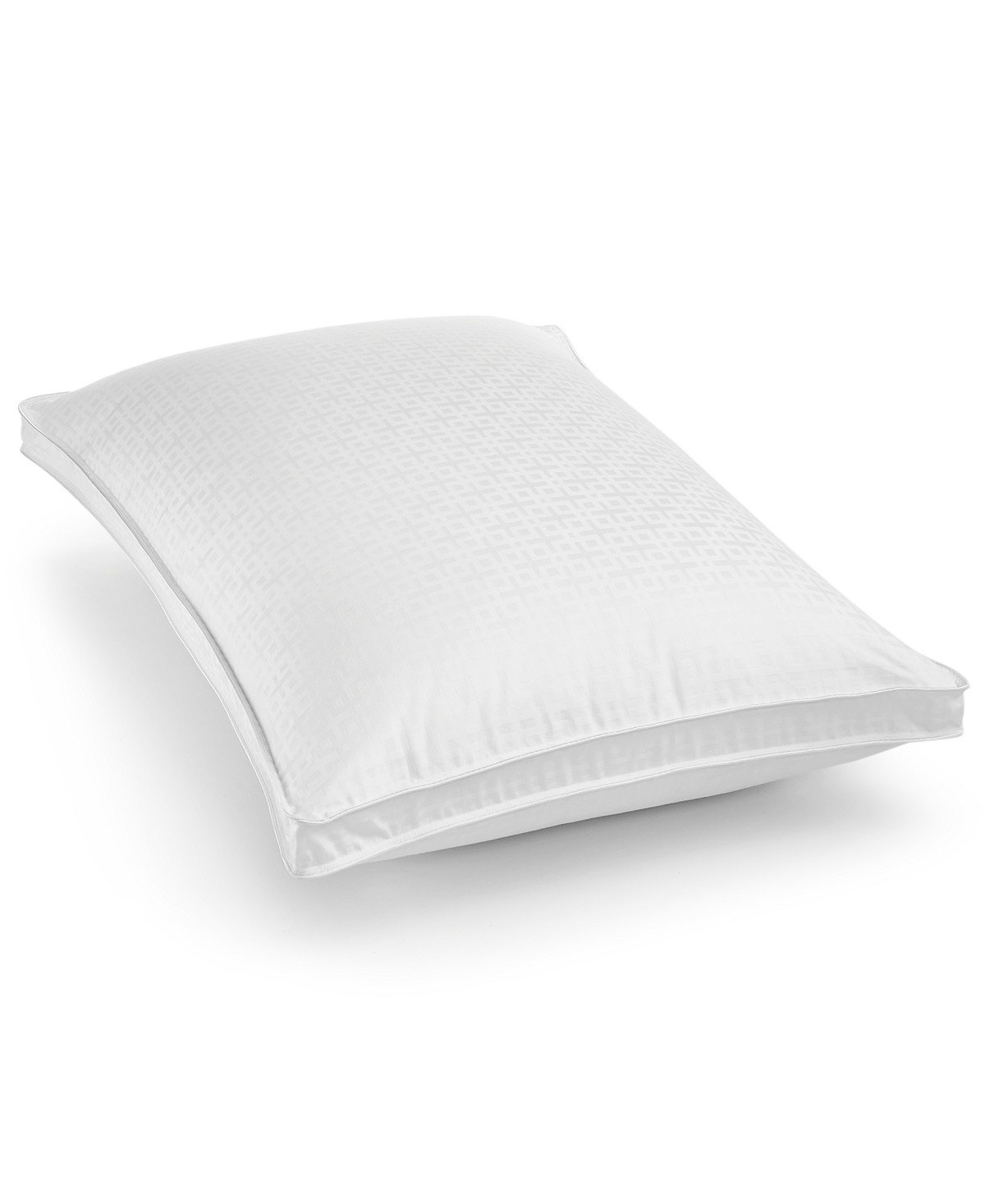 Hotel Collection European White Goose Down Standard Queen Medium Support Gusset Pillow for Back Sleepers