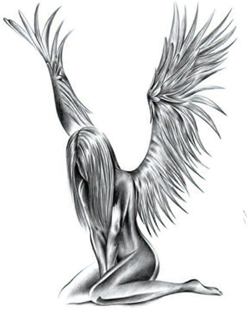 Etiqueta Engomada De Los Hombres Del Tatuaje Del ángel Demonio ...