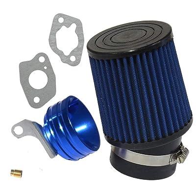 212cc Predator Performance Air Filter, Adapter & Upgrade Jet- BLUE: Automotive