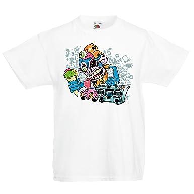 fda7c2b35acc1 lepni.me T-Shirt pour Fille garçon Le Funky Monkey DJ - années 80 ...