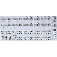 Festnight Klavier Keyboard Noten, Transparente 49 61 Schlüssel Elektronische Tastatur 88 Schlüssel Klavier Stabkirche Hinweis Aufkleber für die weißen Tasten