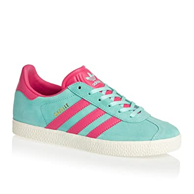 official photos 61ba8 1a2d5 adidas Girls Originals Junior Girls Gazelle Trainers in Aqua - UK 5