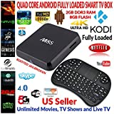 M8 Quad Core Android 4.4 Loaded TV Box 2GB RAM 8GB FLASH 5Ghz Wi-Fi Bluetooth 4.0 HDMI Bundle with Wireless Keyboard/Touchpad