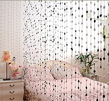 Amazoncom 300x300cm Bead Curtain Room Divider Thread Curtains