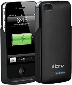 iHome 2000 mAh Power Case for iPhone 4/4S - Retail Packaging - Black