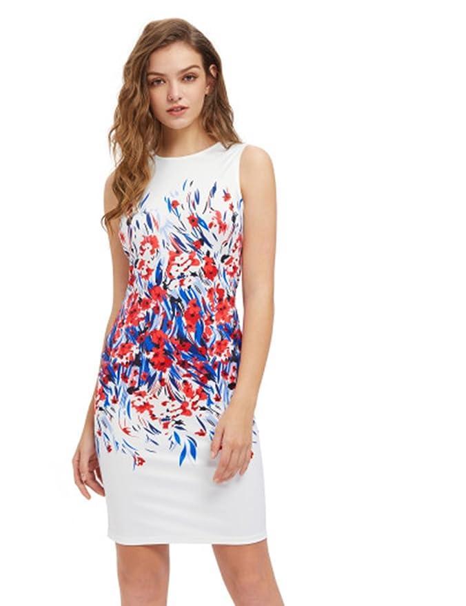 女士印花修身连衣裙,上班、爬梯好选择只要$22.99