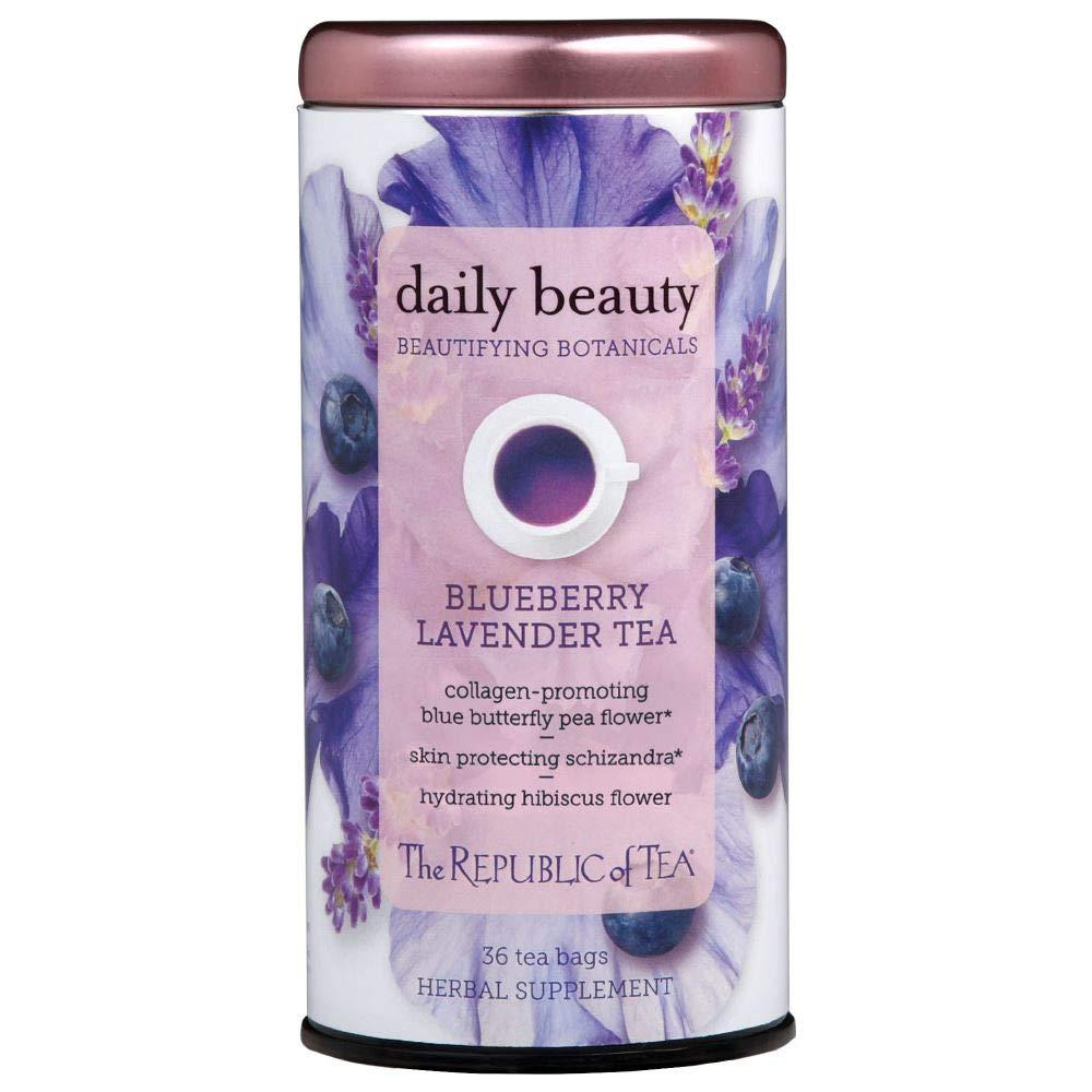 The Republic of Tea Beautifying Botanicals Daily Beauty Herbal Tea, 36 Tea Bag Tin by The Republic of Tea