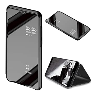 outlet store c46df b85c6 MOIKY Luxury Mirror Clear View Flip Case for Huawei Y6: Amazon.co.uk ...