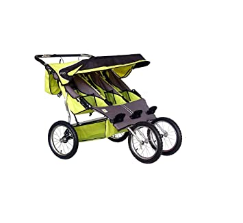 Amazon Com Bebelove Usa Green Triple Jogging Stroller Baby