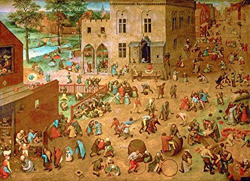 - Odsan Gallery Childrens Games - By Pieter Bruegel The Elder - Canvas Prints 12