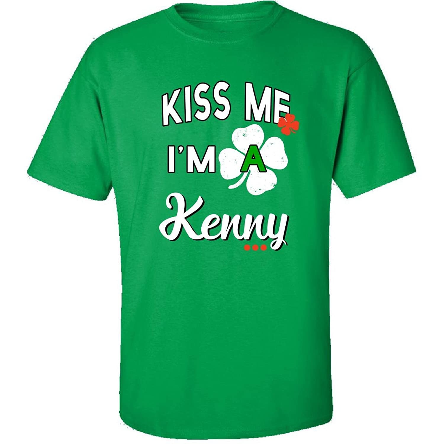 Funny St Patricks Day Irish Gift - Kiss Me Im A Kenny - Adult Shirt