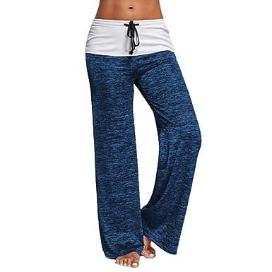 Dihope - Pantalón para Mujer, Entretiempo, Largo, Estampado ...