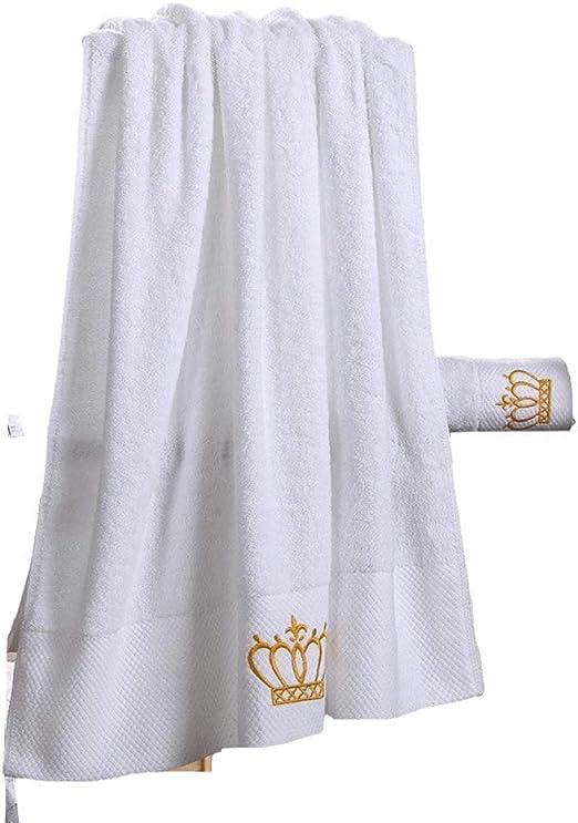 CCMOO Bordado Corona Imperial Algodón Conjunto Blanco Toallas de ...