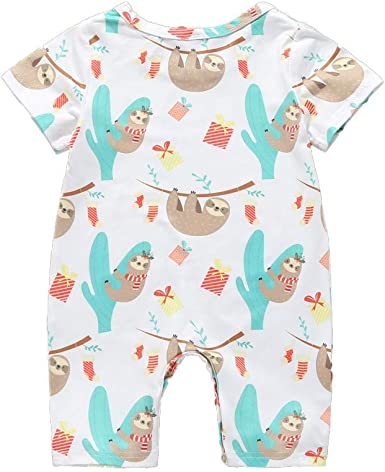 MAYOGO Ropa bebé Carters Mono Camiseta Pijamas Mameluco para Bebe Unisex Pelele Recién Nacido bebé niño Ropa bebé Niña Manga Corta Body bebé niño de 0-2 Años Ropa de Dormir Chica: Amazon.es: