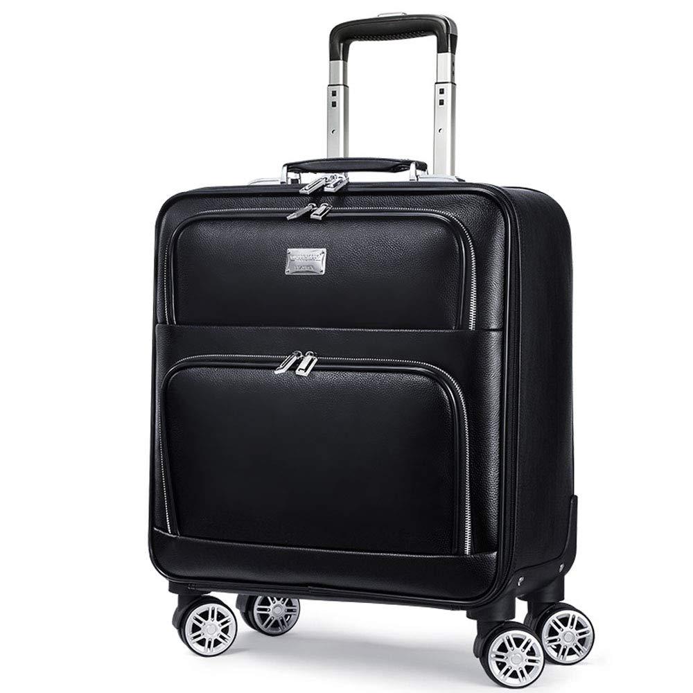 PUローリング荷物スーツケースキャビンビジネストラベルトロリーバッグ男性用荷物スーツケースバッグホイールスピナースーツケースホイールバッグ B07MCXYBW4  18inch