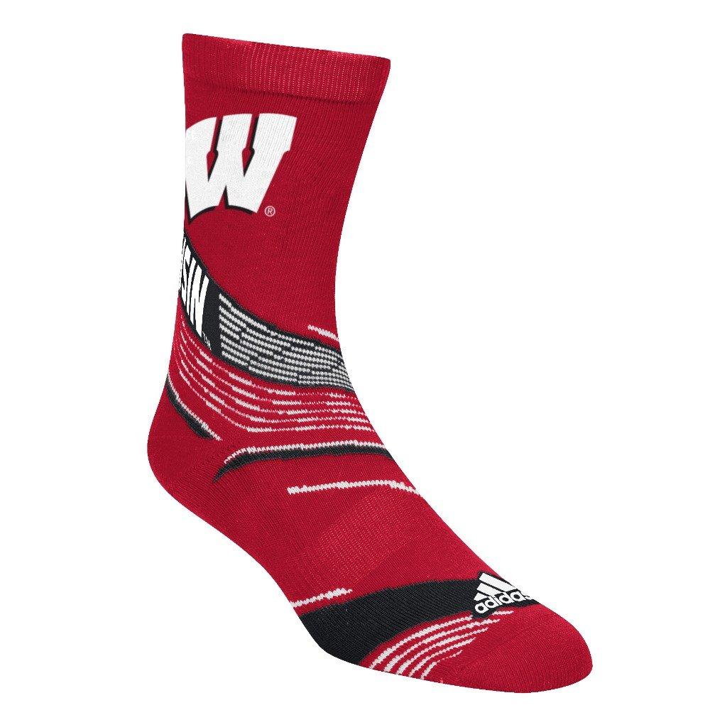 Wisconsin Badgers Adidas NCAA NCAA NCAA  Fan Gear  Jacquard Pattern Men's Socks | Negozio online di vendita  | Una Grande Varietà Di Merci  | Lavorazione perfetta  | Più economico  | Export  | Buona Reputazione Over The World  7a1acf