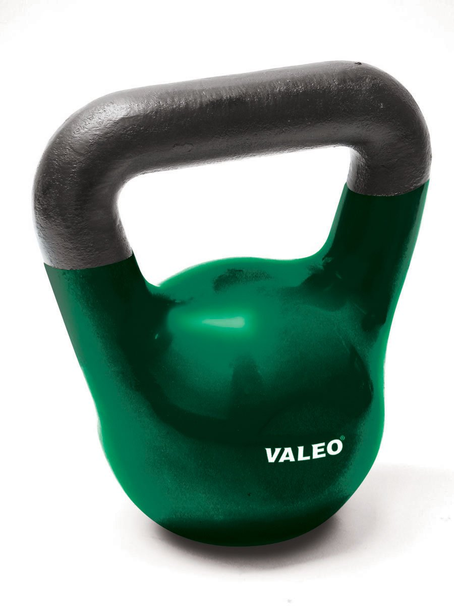 Valeo 20-Pound Kettle Bell Weight With Cast Iron Handle For Squats, Pulls and Overhead Throws To Build Strength And Endurance by Valeo