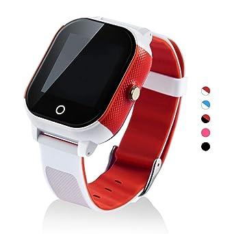 Reloj Inteligente para niños con GPS y Pantalla táctil, Resistente al Agua, con Control Remoto de Voz, Control geográfico y Seguimiento de la Actividad: ...