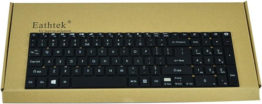 Laptop Keyboard Compatible for Gateway NV570P20u NE510 NV570P NV570P04u NV570P09u NV570P30u NV570P13u NV570P10u NV570P11u NV570P31u US Layout Black Color